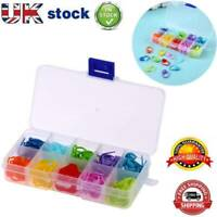 120pcs/Box 10 Colors Knitting Accessories Crochet Locking Stitch Markers Tool UK