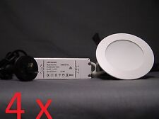 4 x CLA 10W LED Chameleon Downlight Dimmable Tuneable 3000K/4000K/5000K