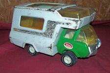 Old Tonka Toy Camper Van Travel Truck Vintage Pressed Metal Toys Kids Camp 6