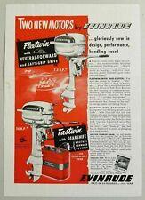 1950 Print Ad Evinrude Fleetwin & Fastwin Outboard Motors Milwaukee,WI