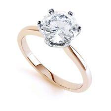 Anillos de joyería con diamantes Solitario de oro rosa de compromiso