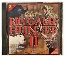 Cabelas Big Game Hunter II 2 Pc Brand New XP