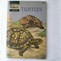 Golden Read-It-yourself Book Turtles by Bertie Ann Stewart 1960s Vintage 1960s