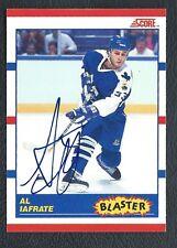 Al Iafrate 1990 Score  BLASTERS autographed hockey card # 334