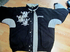 Raiders Jacket Vintage 3 players w/eye patch on front  LG - XL?