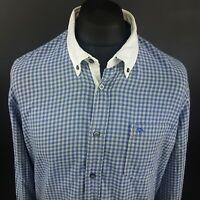 JOOP! Mens Shirt 2XL Long Sleeve Blue SLIM FIT Check Cotton