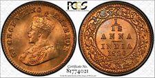 1926-B India 1/12 Anna PCGS MS67 Red