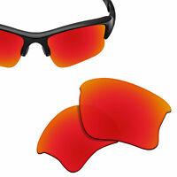 Replacement Lenses for-OAKLEY Flak Jacket XLJ Sunglasses Red UVA-Polycarbonate