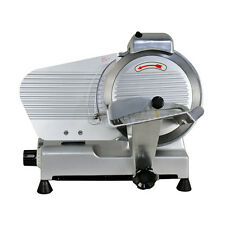 "10"" Blade Commercial Semi-Auto Meat Slicer Electric Deli Slicer Veggies Cutter"