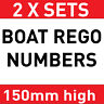 2x  BOAT REGO  REGISTERATION NUMBER sticker vinyl decal 150mm high Popular