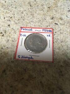 RARE POLAND 1933 - 5 ZLOTYCH XF SCARCE SILVER COIN