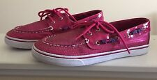 Sperry Bahama Top-Sider Fuchsia Pink Sequins Size 6M