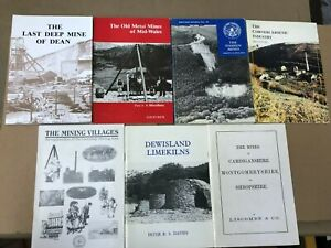 Job lot of 7 British Mining Paperback Books (B4)