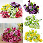 21 Heads Fashion Flowers Artifical Silk Rose Flower Home Wedding Party Decor Hot