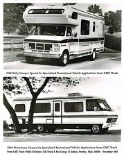 1988 GMC RALLY CAMPER / MOTOR HOME Chassis Press Kit {Brochure} Photo, Spec's