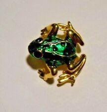 Brooch - By Aai Green & Goldtoned Frog