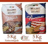 Farina di Grano Integrale Manitoba Americana per da Pizza Pane Dolci 5 Kg