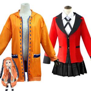 Anime Kakegurui Compulsive Gambler Yomozuki Runa Hoodie Coat Cosplay Costume/Wig