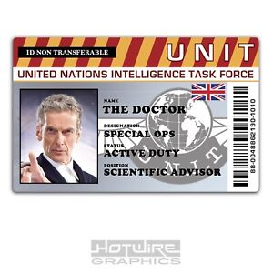 Plastic ID Card (TV Series Prop) - Doctor WHO Peter Capaldi, UNIT Access Pass
