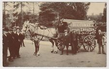 Devon postcard - Discombe Carrier, Crediton - Superb Decorated Horse & Carriage