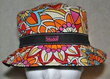 Mudd Flower Design Ladies Sun / Bucket Hat - Mutli-Color Retro Design - Like New