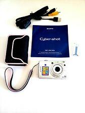 SONY Cyber-shot DSC-W55 7.2MP Digital Pocket Camera Silver  EXCELLENT - TESTED