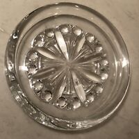 """Baccarat French Crystal """"Rosace"""" Pattern Wine/Champagne Bottle Coaster"""