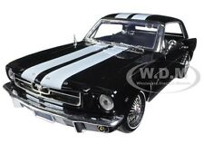 1964 1/2 FORD MUSTANG HARD TOP BLACK WITH WHITE STRIPES 1:18 BY MOTORMAX 73164