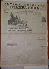2 3 agosto 1943 Guerra in Sicilia battaglia di Adriano Attacchi ad Orel Gamba di