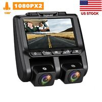 "TOGUARD Dual Dash Cam Full HD 1080P 340° 3"" LCD Car DVR Video Camera Sony Sensor"