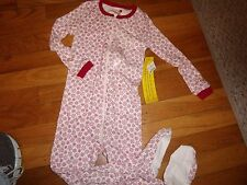 THE CHILDREN'S PLACE TCP FEET  PAJAMAS SET PJs NWT SLEEPWEAR SNOWFLAKE SIZE 3T