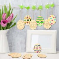 Ostern hängende hölzerne Verzierungen Dekorationen basteln gemalte Graffiti DIY