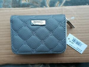 HARRODS Acton GREY Short Ladies Wallet 3 x 4in  Wonderful NEW with TAG * L@@@K