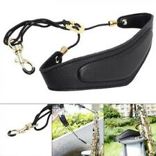More details for saxophone neck strap adjustable pu leather for  alto tenor soprano saxophone