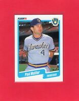 1990 Fleer baseball #330  PAUL MOLITOR  Milwaukee Brewers Hall of Fame