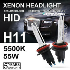 Pair H11 H9 Xenon HID DC Headlight Bulb High Low Beam 5500K White 55W 30000LM