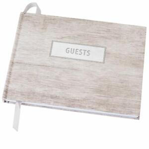 """Wedding Guest Book 9""""x7"""" (Grey Wood)"""
