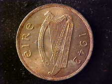 IRELAND SILVER ½ CROWN 1942 BU