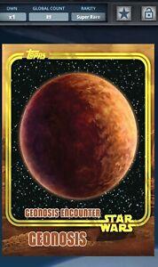 Topps Star Wars Card Trader Geonosis Yellow Planet Award