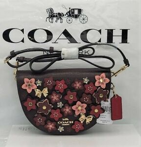 NWT Coach Ellen Crossbody With Daisy Applique Pebbled/Smooth Leather $428 Retail