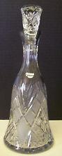 Gorgeous Crystal Cut Glass Decanter Whiskey Wine Liquor Bottle