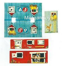 FISHER-PRICE TOY FARM BARN LUNCH KIT 549 REPLACEMENT LITHOS - STICKERS - DECALS