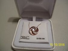 "Copper Color 18"" Necklace, Swarovski, $150.00 A New Beautiful Sterling ""N"" Ice"