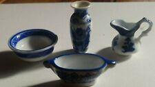 Dolls House Minature Vase, Bowl, Jug And Pot