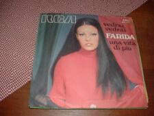 "FARIDA "" VEDRAI VEDRAI ( Tenco) - UNA VITA DI PIU' ""  ITALY'67  ARC  EX++ / VG+"