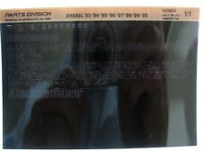 Honda XR650L XR600 93 94 95 96 97 98 99 2000 Parts List Catalog Microfiche a896
