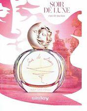 PUBLICITE ADVERTISING 027  2012   eau de parfum Soir de Lune par Sisley