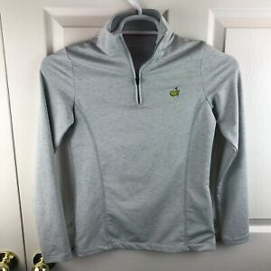 Women's Magnolia Lane Tech 1/4 Zip Pullover Long Sleeve Gray Speckled Masters XS