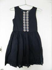 Entièrement neuf sans étiquette filles bleu motif floral brodé jupe-entièrement doublé-âges 12-24 mois