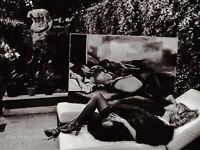 1986 Vintage HELMUT NEWTON Countess MARTA MARZOTTO Garden Italy Photo Art 11X14
